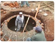 Bau von Biogasanlagen für Haushalte in Kenia